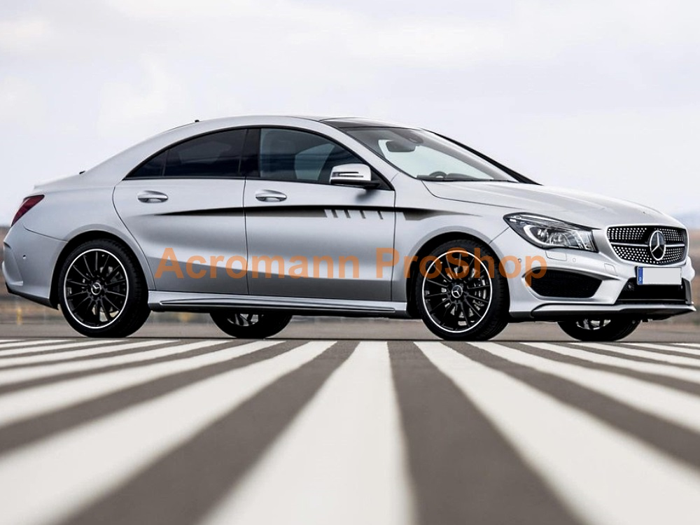 AMG C117 X117 CLA 45 250 Sports Side Stripes Door Decals Sticker